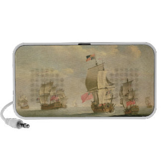 La flota inglesa debajo de la vela iPhone altavoces