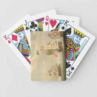 La flota inglesa debajo de la vela baraja de cartas
