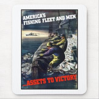 La flota pesquera y los hombres de América Tapete De Ratones