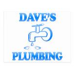 La fontanería de Dave Tarjeta Postal