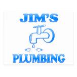 La fontanería de Jim Tarjetas Postales