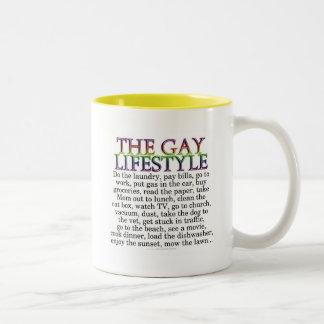 La forma de vida gay tazas