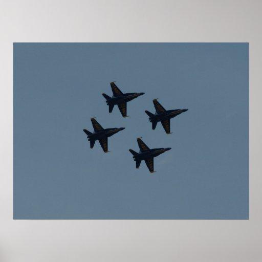La formación del diamante de los ángeles azules poster