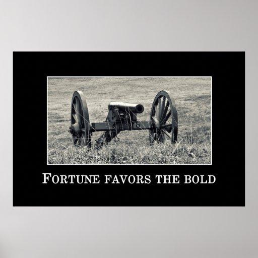 La fortuna favorece el intrépido póster