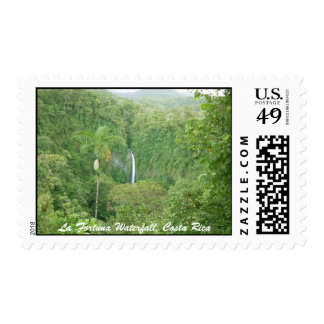 La Fortuna Waterfall, Costa Rica Postage Stamp