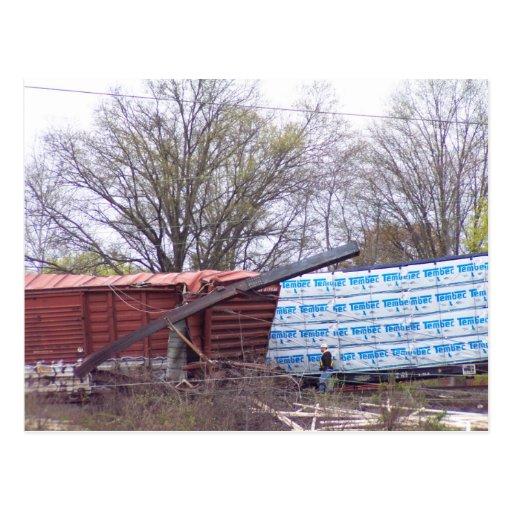 La foto 1 CSX del descarrilamiento del ferrocarril Postales