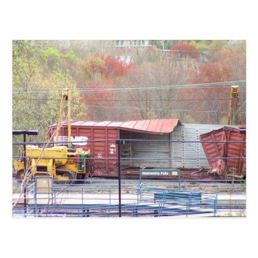 La foto 2 CSX del descarrilamiento del ferrocarril Postales