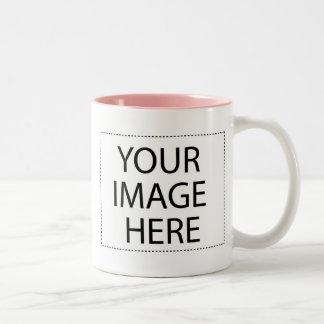 La foto asalta - pique la plantilla 11oz de dos taza de dos tonos