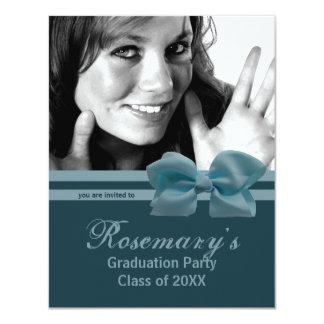 La foto azul de moda de la fiesta de graduación anuncios