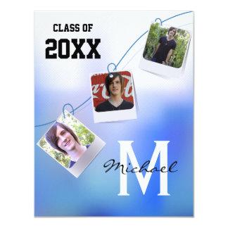 """La foto azul de moda y adaptable de Ombre invita Invitación 4.25"""" X 5.5"""""""