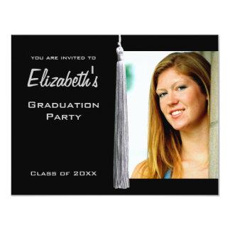 La foto blanca moderna de la fiesta de graduación comunicados personales