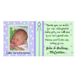 La foto bonita del bebé de los lunares le agradece tarjetas fotográficas personalizadas