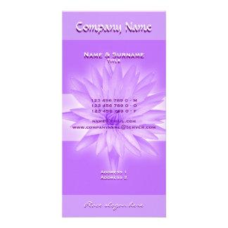 La foto carda la plantilla - lillies rosados adapt tarjeta fotografica personalizada