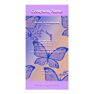 La foto carda la plantilla - mariposas adaptables tarjetas personales