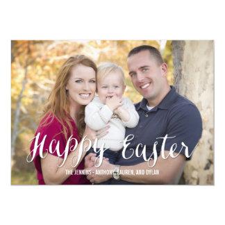 La foto clásica de Pascua de la escritura carda Invitación 12,7 X 17,8 Cm
