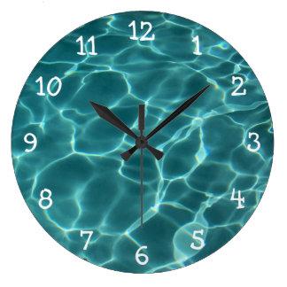La foto con blanco numera el reloj de pared