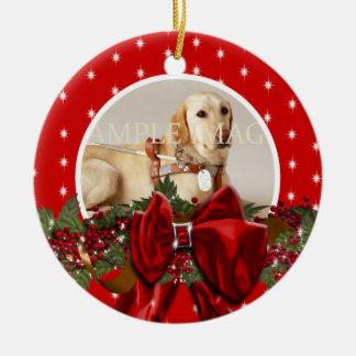 La foto conmemorativa del mascota PERSONALIZA Ornaments Para Arbol De Navidad