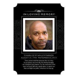 """La foto conmemorativa le agradece cardar - negro invitación 5"""" x 7"""""""