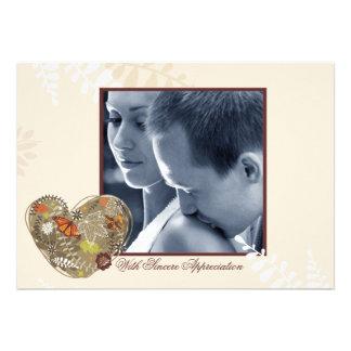 La foto de abundancia del amor le agradece Notecar Invitacion Personalizada
