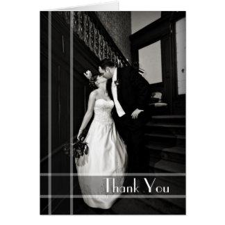 La foto de encargo del boda de la mirada del art d tarjeta de felicitación