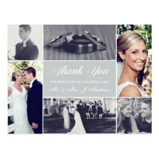 La foto de encargo del boda del color le agradece tarjetas postales