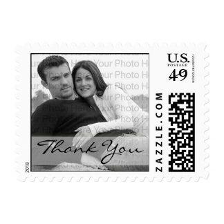 La foto de encargo le agradece franqueo del boda timbres postales