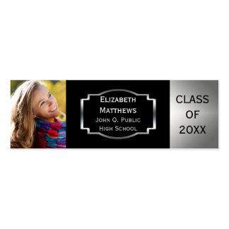 La foto de la clase del emblema de la graduación tarjetas de visita mini
