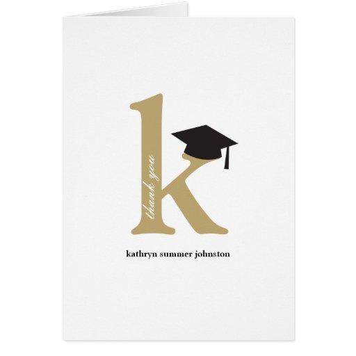 La foto de la graduación del alfabeto del tarjeta pequeña