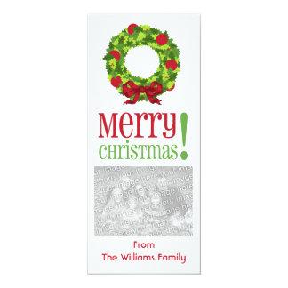 La foto de la guirnalda del navidad invita al invitación 10,1 x 23,5 cm