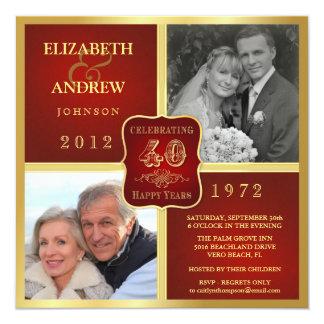 """La foto de la suposición 2 del aniversario del invitación 5.25"""" x 5.25"""""""