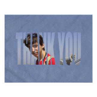 La foto de Mitzvah de la barra le agradece Card2 e Invitaciones Personalizada