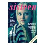 La foto de portada de revista dieciséis del dulce invitación 12,7 x 17,8 cm