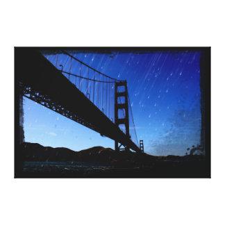 La foto de puente Golden Gate corrige - noche Impresión En Lienzo