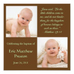La foto del bautismo invita con verso de la biblia invitaciones personales