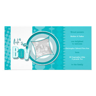 La foto del bebé carda invitaciones del nacimiento tarjeta fotográfica personalizada