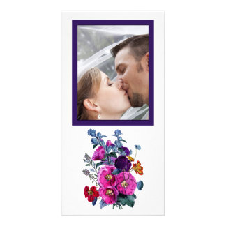 La foto del boda de la colección de los Hollyhocks Tarjetas Fotograficas Personalizadas