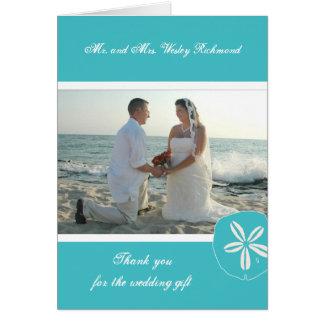 La foto del boda de playa de la turquesa le agrade felicitaciones