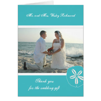 La foto del boda de playa de la turquesa le tarjeta pequeña