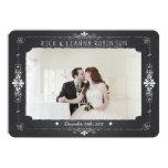 La foto del boda del tarro de albañil de la invitación 12,7 x 17,8 cm