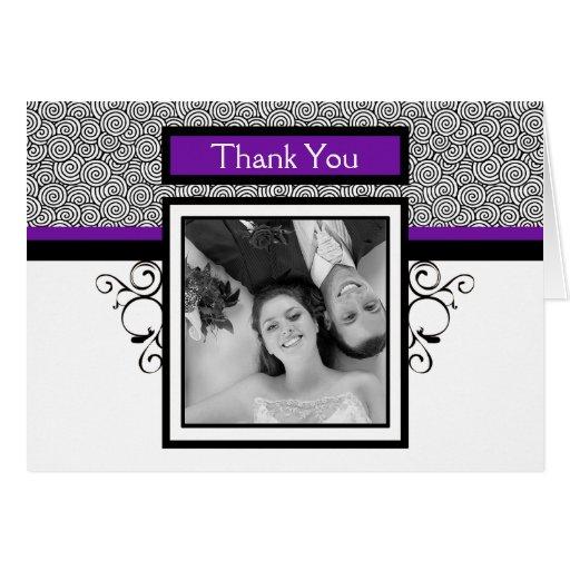 La foto del boda le agradece las tarjetas