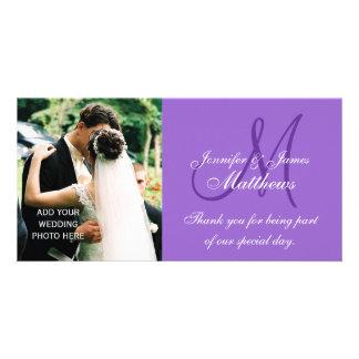 La foto del boda le agradece las tarjetas con el m tarjetas fotograficas