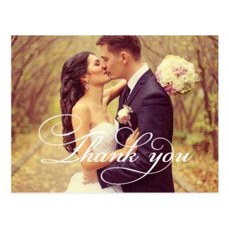 La foto del boda le agradece las tarjetas de nota postales