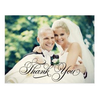 La foto del boda le agradece postal de las