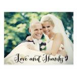 La foto del boda le agradece postal de las tarjeta