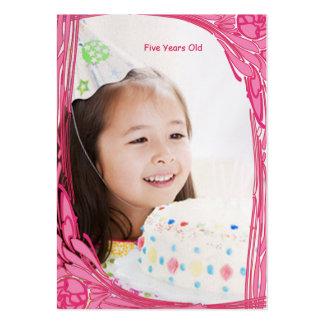 La foto del cumpleaños de los chicas carda el vint plantillas de tarjetas personales