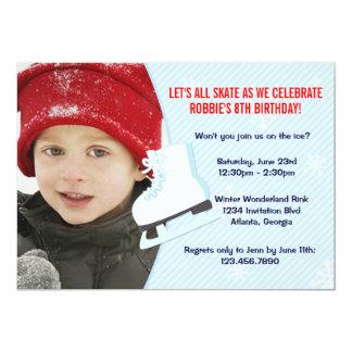 La foto del fiesta del patinaje de hielo invita comunicados personalizados