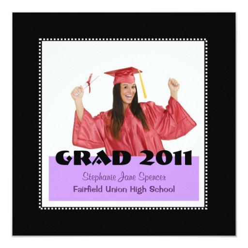 """La foto del graduado 20xx invita invitación 5.25"""" x 5.25"""""""