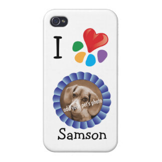 La foto del mascota del corazón I/plantilla del na iPhone 4 Protector