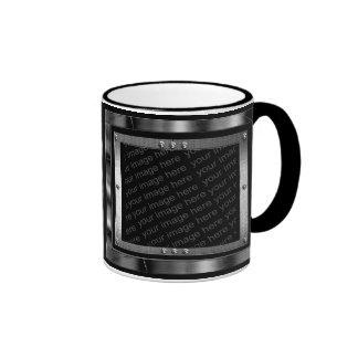 La foto del metal enmarca la taza
