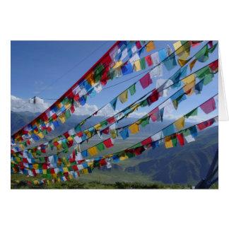 La foto/el rezo de Tíbet señala al tibetano por me Felicitación